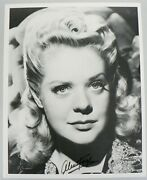 Vintage Movie Star Alice Faye Signed Black And White Photograph With Coa