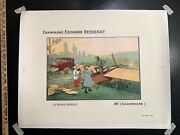 Champagne Eduoard Besserat 1914 22 X 28 French Advertising Poster Lb