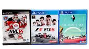 Play Station 4 No Man's Sky,ps4 F1 2015, Ps 3 Nhl 14 Preowned
