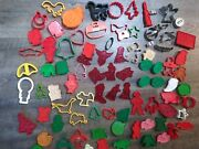 Lot Cookie Cutters Vntg Modern Metal Plastic Toy Story Nativity Scene Flag More