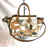 Nwt Coach Patchwork Trs Swagger 27 Bag, Camel/gray/copper 24969 Retail 595