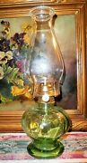 Antique Kerosene And Electric Oil Lamp W/new Parts And Chimney