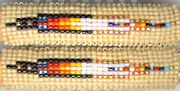 Navajo Beaded Hair Barrette Set 23, Feather, Native American Jewelry