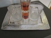 And Co Sterling Tray Hammered Cocktail Barware Tarnish Sleeve 40 Toz