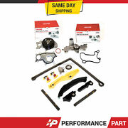 Timing Chain Kit Ford Mustang Transit Water Pump W/ 3 Bolt Flange Fit 15-17 3.5l