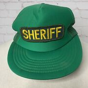 Vintage Los Angeles County Deputy Sheriff Green And Yellow Snapback Mesh Hat Cap