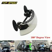 Motorcycle Blind Spot Mirrors 180+ Wide Angle Rearview Safety Auxiliary Mirror