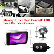 Motorcycle Dvr Dash Cam Wifi Fhd Front Rear View Camera Logger Recorder Box