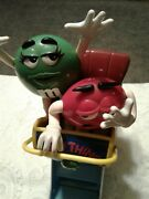 Limited Edition Mandm Candy Dispenser Wild Thing Roller Coaster Car Collectibles