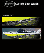 Premium Quality Boat Wrap. 6000mm X 700mm 2 Sides Style No. 124
