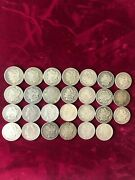 Morgan Silver Dollars 27 All With Mint Marks