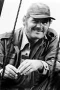 Jaws Robert Shaw 18x24 Poster As Quint Smiling Classic