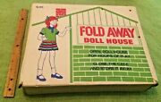 Antique Fold Away Doll House Miner Toys Rare Dolls No 1610 Vintage Collectible