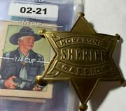 Rare Hopalong Cassidy Sheriff Badge, Wild West Trading Cards And Crayon Cool 02-21