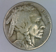 1926 S Buffalo Nickel Strong Very Fine Five Cents United States Bison 5 C D 3