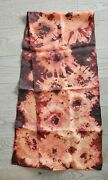 Hand Painted Silk Scarf Apricot Orange Rust Water Coors Oblong Unique Hair Neck