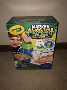 Crayola Marker Airbrush Set W/stencils And Markers Turn Markers Into Spray Art