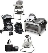 Baby Combo Stroller With Car Seat Playard Swing Chair Bag Infant Travel System