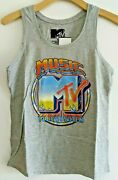 Mtv Music Television Officially Licensed Womens Graphic Tank Top Tee T-shirt