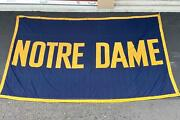 Vintage 1950s Notre Dame Football Stadium Banner Huge Flag Bunting Canvas 8and039x11and039