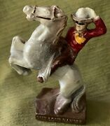 Vintage Rubber/composition Lone Ranger And Silver Figure Copyright 1938 Exc.cond.