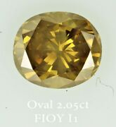 Loose Oval Diamond 2.05 Ct Fancy Orangy Yellow Natural Birthday Engagement Ring