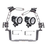Dual Sea And Sea Ys-d3 - Mounted On A Ocean Tray Arm Kit Light Set