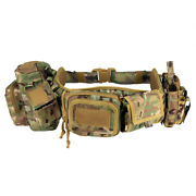 Quick Release Hunting Tactical Molle Belt Waistbelt With 5pcs Accessories Pouch