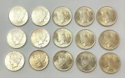 Lot Of 15 Coins 1922-p 1 Peace Dollar Philadelphia 90 Coin Nice Detail Luster