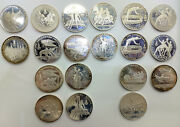 Silver 90 Coin Lot Olympic Games 5 And 10 Rubles Xxii Moscow 1980