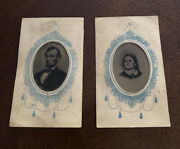 Matching Tintypes Of Abraham And Mary Todd Lincoln In Carte De Visite Mounts