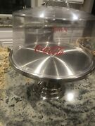 Vintage Coca-cola Cake Stand And Cover Set