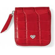 Nwt Brighton B Wishes Contact Lens Case Red Leather Mirror Holder Msrp 44