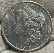 1878-s Morgan Silver Dollar Au+ Clnd Some Luster Rev. Great Book Coin