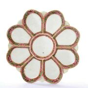 1900and039s Chinese Export Famille Rose Medallion Porcelain Oyster Section Dish Plate