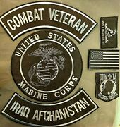 Us Marine Corps Combat Vet Iraq Afghanistan Military Motorcycle Lot/ 6 Patches
