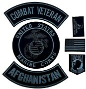 U.s. Marine Corps Combat Veteran Afghanistan Military Motorcycle Lot/ 6 Patches