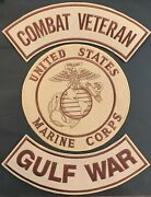 Us Marine Corps Seal Combat Veteran Gulf War Military Motorcycle Lot/ 3 Patches