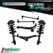6pc Front Struts + Lower Control Arms + Sway Bar For 03-05 Honda Pilot 01-02 Mdx