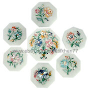 Round Coaster For Drink Set Of 6 With Holder And Tea Pot Placemats