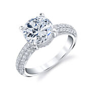 Solitaire 1.30 Ct Real Diamond Women Wedding Ring Solid 950 Platinum Size 7 8 9