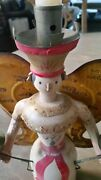 German Wooden Folk Art Angel With Wings Christmas/holiday Collectible