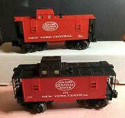 Lot/2 - Vintage Lionel Trains O-scale New York Central System Caboose 296