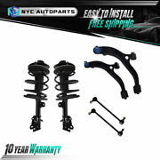 6pc Front Struts+ Lower Control Arms+ Sway Bar For 01-07 Chrysler Town And Country