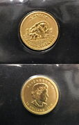 Polar Bear And Cub Queen Canada 2016 Gem Bu .9999 1/4 Oz Gold 10 Gold Coin.