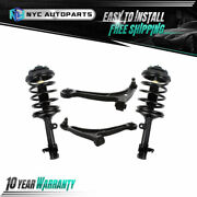 2x Front Struts + 2x Lower Control Arms W/ball Joint For 2003-2008 Honda Pilot