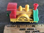 Vintage Plastic Toy Train Rare Western Germany Toy Small Steam Coal