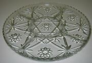 Eapc Early American Prescut 5 Part Relish Tray Plate Platter Star Of David 13