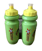 Lot Of 2 Green Plastic Sports Water Bottle With Pop Top Lid Kids Stinger