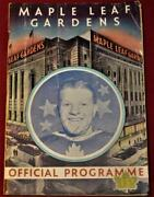 1947 Maple Leafs Canadiens Stanley Cup Clinching Game Program Signed Turk Broda